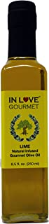 In Love Gourmet Lime Natural Flavor Infused Gourmet Olive Oil 250ML/8.5oz Drizzle on Tortilla Soup, in Ceviche, with Watermelon and Feta Salad, in Salsas and Fish Tacos
