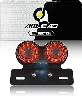 Aolead Motorcycle Tail Light with Bracket,  Driving Light,  Brake Light,  Turn Signals,  License Plate Light All-in-one for Harley Honda Yamaha Suzuki Kawasaki