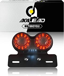 Aolead Motorcycle Tail Light with Bracket,  Driving Light,  Brake Light,  Turn Signals,  License Plate Light All-in-one for Harley Honda Yamaha Suzuki Kawasaki