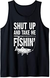 Shut Up And Take Me Fishing Funny Fishing Lovers Tank Top