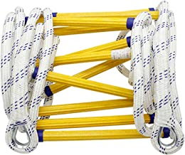 Warooma Rope Ladder, Fire-Resistant Rescue Ladder, Multi-Purpose Ladder Fire Ladder for Emergencies, Rescue Rope Ladder fo...