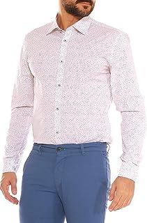 bd7339bf99d1 Camicia Uomo Slim Fit in Cotone Stretch Fantasia Floreale