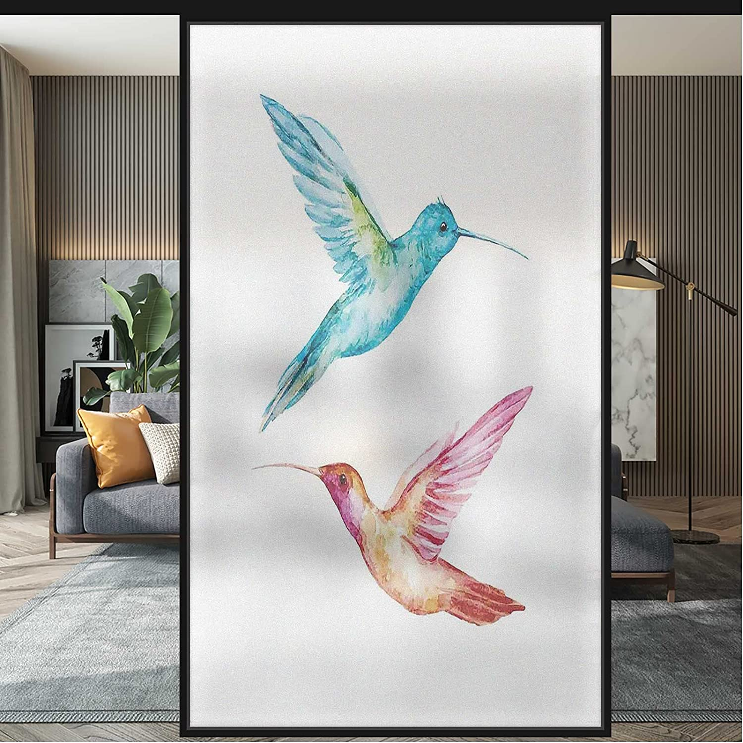 3D Static Cling Window Max 52% OFF Hummingbird Colorful Film Surprise price Sta