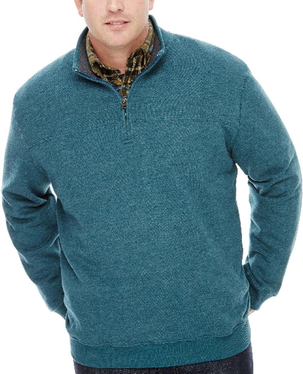 Arrow Men's Big-Tall Long Sleeve Sueded Fleece 1/4 Zip Pullover