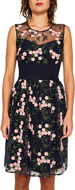 Esprit Collection Damen 039eo1e008 Kleid Blau Navy 2 401 Herstellergrosse 42 Amazon De Bekleidung