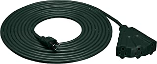AmazonBasics 16/3 Outdoor Extension Cord with 3 Outlets, Green, 20 Foot