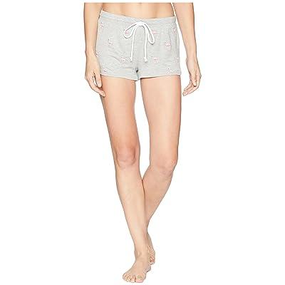 P.J. Salvage Tropicana Flamingo Shorts (Heather Grey) Women