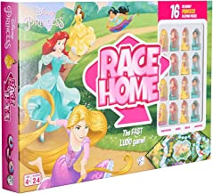 Disney Princess Race Home Board Game for Kids Ages 4 Years up, Multi