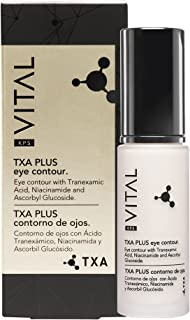 KPS VITAL 【PREMIUM】 TXA PLUS | Crema Contorno de Ojos Antiarrugas Mujer | Anti Ojeras | Anti Arrugas | Corrector | Anti Bo...