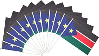 South Sudan Polyester Country Flags Desk Outside Waving Parade South Sudanese (12-Pack Hand Flag)