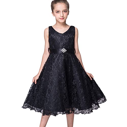 89ddfd53636 21KIDS Girls Lace Dress Elegant Long Wedding Party Bridesmaid Princess  Pageant Dresses