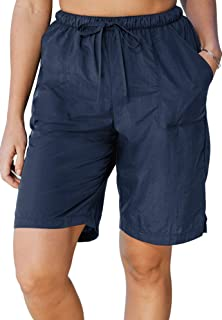 Swimsuits For All Women's Plus Size Taslon Swim Board Shorts with Built-in Brief