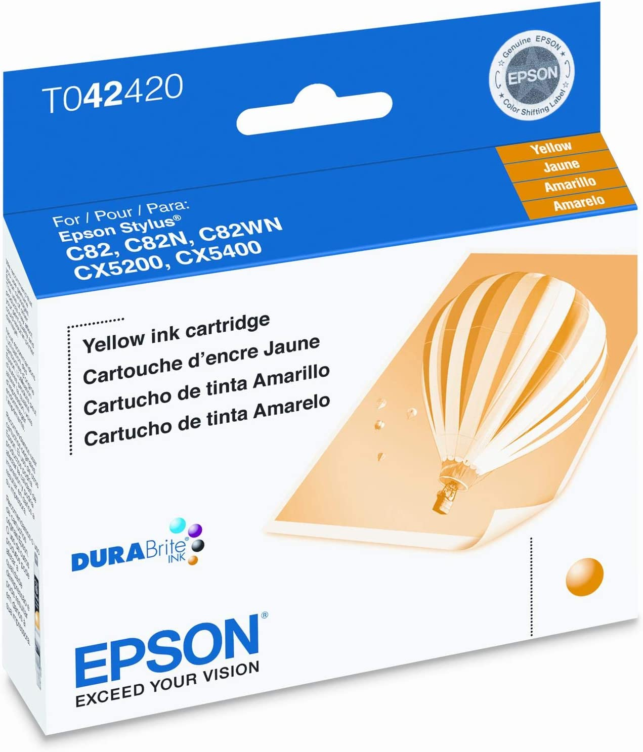 Epson T042420 Yellow Ink Cartridge for C82
