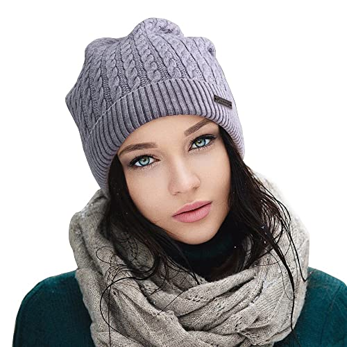 1e7fe10002187 Beanies for Small Head Cable Knit Beanie Winter Hats for Women Skull Caps  for Ladies (