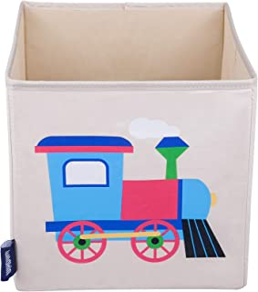 Wildkin Kids 10 Inch Storage Cube for Boys and Girls, Helps Keep Toys, Games, Books, and Art Supplies Organized in Your Child's Bedroom or Playroom, Designs Coordinate with Our Bedding and Room Decor