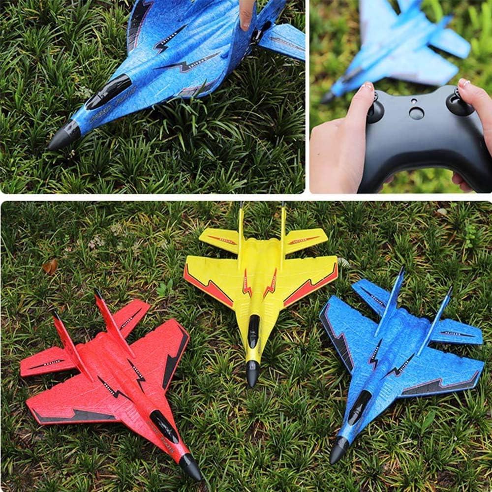 Lecez Spielzeug Fernbedienung Flugzeug K/ämpfer MiG 530 Flugzeugmodell Schaum Flugzeug steuern Fernsegelflugzeug resistent Geschenke for Anf/änger Kinder Fallen und Erwachsene Flugzeugmodell Spielzeug