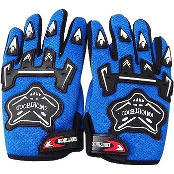 Motorcycle Motocross MX BMX Dirt Bike Racing Sports Skeleton Gloves Blue