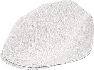 BOTVELA 100% Linen Breathable Hat Summer Ivy Flat Cap for Men