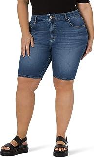 Lee Women's Size Legendary Slim Fit High Rise Bermuda Short