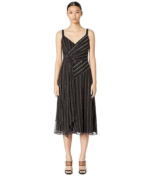 GREY Jason Wu Painterly Stripe Print Ruched Dress