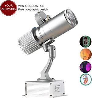 HENGGE 15W LED Custom Image GOBO Logo Projection Lamp with Manual Zoom DJ for Company Store Wedding Event Hotel Restaurant Advertising Signage (Indoor)