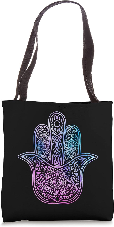 Hamsa Symbol Yoga I We OFFer at cheap prices Fatimas Max 41% OFF Mandala Hand Bag Tote