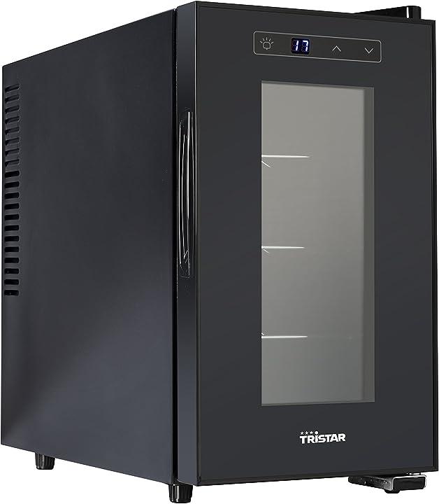 Cantinetta per vino tristar wr-7508 frigo 70 w 21 litri metallo nero [classe di efficienza energetica a+]