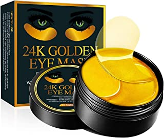 Under Eye Collagen Patches - 24K Gold Eye Mask Anti-Aging Hyaluronic Acid - Under Eye Mask for Reducing Dark Circles & Puffy Eyes (30 PAIRS) - Under Eye Bags Treatment
