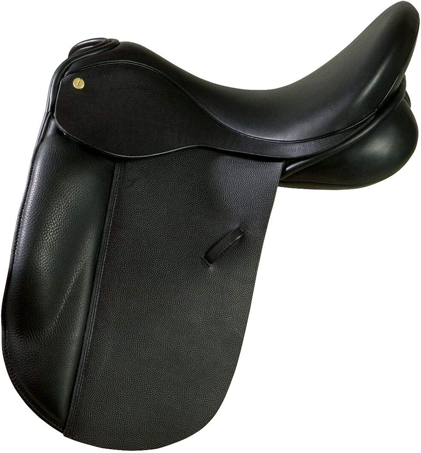 New Black Leather Dressage All Purpose English Horse Racing Tack & Saddle ES503 (15 Inches, Black)