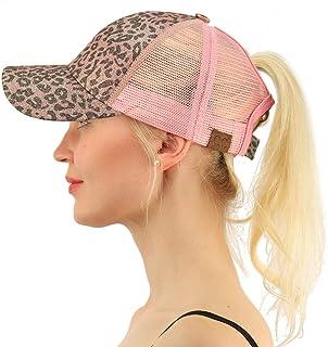 a6b012212b035 C.C Ponytail Messy Buns Trucker Ponycaps Plain Baseball Visor Cap Dad Hat