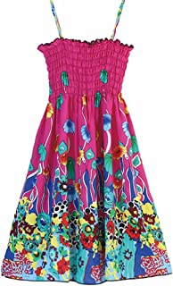 Áo quần dành cho bé gái – Little Big Girls' Casual Summer Beach Halter Striped Floral Dresses,Size 4-12