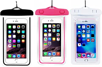 (3Pack) Universal Waterproof Case, CaseHQ IPX8 Waterproof Phone Pouch Dry Bag for iPhone X/8/8plus/7/7plus/6s/6/6s Plus Samsung Galaxy s8/s7 Google Pixel HTC10 up to 6.0