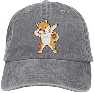 7122bff69d9 Hhaj Adult Denim Cap Dabbing Doge Shiba Inu Classic Dad Hat Adjustable Cap