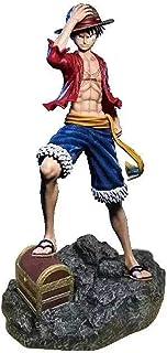 LF-YGJ Estatua de Anime Un Pedazo de Mono D Luffy de pie en el mar El Quinto Emperador Muñeca móvil Grande Modelo de PVC C...