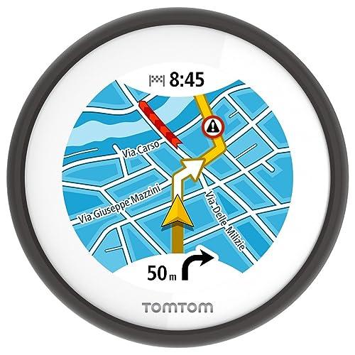 TomTom 1SP0.001.04 VIO, Navigatore per Scooter con Navigazione dettagliata, Avvisi su Tutor&Autovelox, Percorsi alternativi per Evitare Il Traffico e Visualizzazione del chiamante, Nero