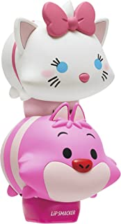 Lip Smacker Disney Tsum Tsum Lip Balm , Marie & Cheshire Cat, Pear & Plumberry, Set of 2 Lip Balms