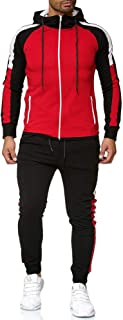Men Tracksuit Set Long Sleeve Full Zip Hoodie Jogging Bottoms Sports Suits Activewear Sports Jogger Clothes