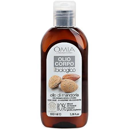 Omia Olio Corpo Eco Bio con Olio di Mandorla, Olio Idratante da Agricoltura Biologica Certificata, 100 ml