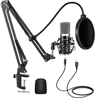 Neewer USB Microphone Kit for Windows and Mac, Includes Suspension Scissor Arm Stand, Shock Mount, Pop Filter, USB Cable a...