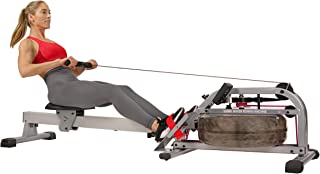 Sunny Health & Fitness Unisex Adult SF-RW5866 Water Rowing Machine - Silver, One Size