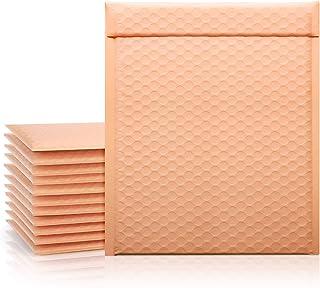 "Fuxury #2 Poly Bubble Mailers 8.5x12"" 25Pcs ,Self Seal Padded Envelopes Bulk with Bubble Lined Wrap Peach Quartz"