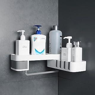 CGLOVEWYL Support de Rangement d'angle avec Crochet étagère de Salle de Bain Organisateur Stockage de shampooing pour Femm...