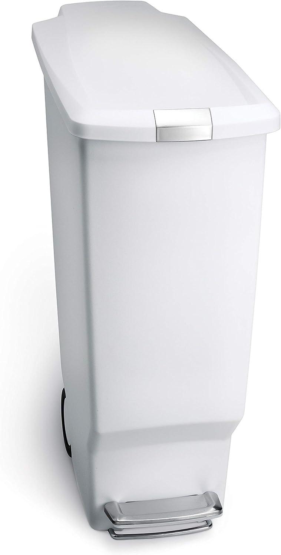 simplehuman Max 57% OFF Rectangular 40 Liter 10.6 Gallon Slim Fashion Kitchen Step
