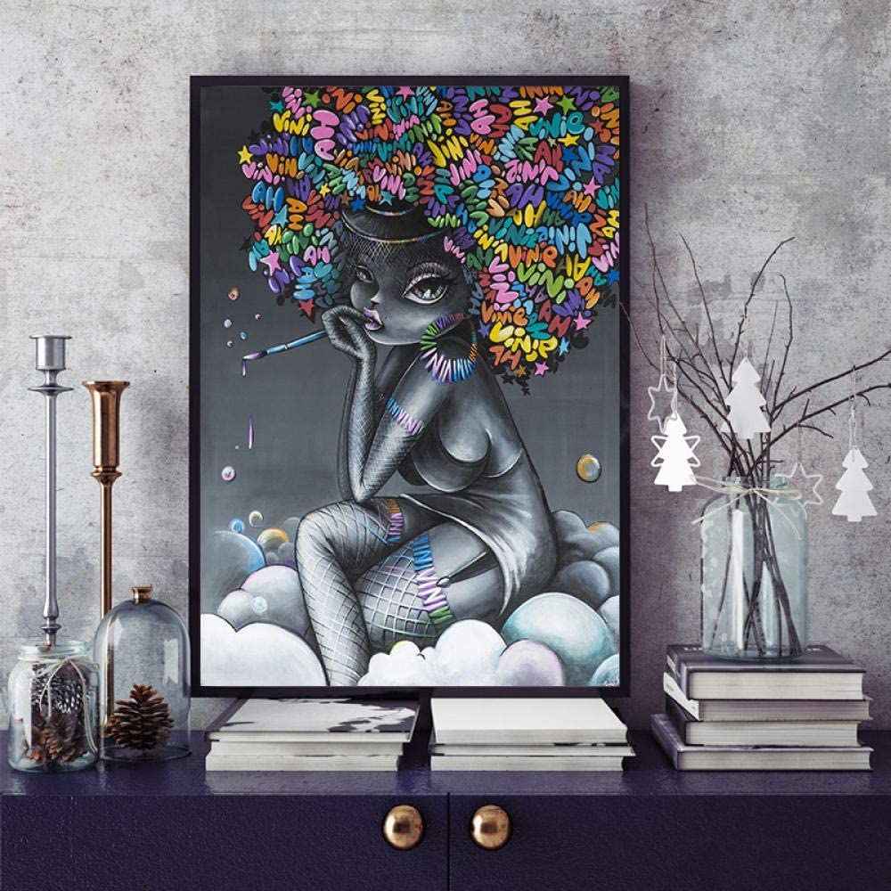 Special Campaign Graffiti Beautiful African Sexy Girl New Shipping Free Shipping A Diamond Kits Painting for