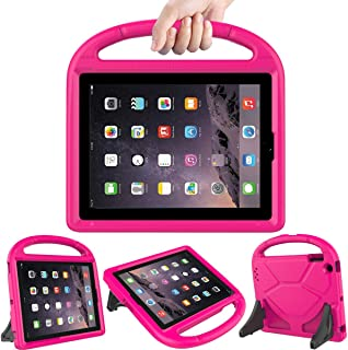 LEDNICEKER Kids Case for iPad 2 3 4 - Light Weight Shock Proof Handle Friendly Convertible Stand Kids Case for iPad 2, iPad 3rd Generation, iPad 4th Gen Tablet - Magenta/Rose