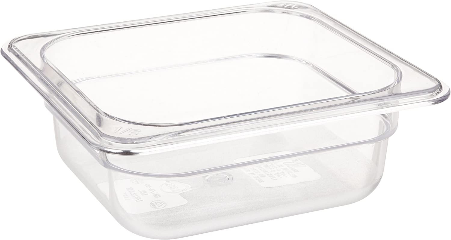 Crestware Polycarbonate Food Pan Don't miss the campaign 2-1 Size 2-Inch Sixth Direct stock discount