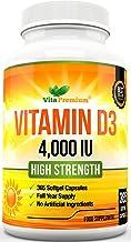 Cápsulas Blandas de Vitamina D3 365 (Suministro de un año), Suplemento de Vitamina D 4000 UI, Alta Absorción, Colecalciferol, de VitaPremium