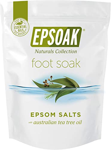 Tea Tree Oil Foot Soak with Epsoak Epsom Salt - 2 Pound Value Bag - Fight Bacteria, Nail Fungus, Athlete's Foot, and ...