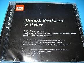 Mozart, Beethoven & Weber – EMI Classics / The Complete Studio Recordings / Maria Callas soprano / Orchestre de la Societe des Concerts du Conservatoire conducted by Nicola Rescigno