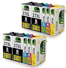 JARBO 27XL Remplacer pour Epson 27 XL Cartouches d'encre, pour Epson Workforce WF 3620 WF 3640 WF 7610 WF 7620 WF 7110 WF 7715 WF 7720 WF 7210 Imprimante (4 Noir,2 Cyan,2 Magenta,2 Jaune)